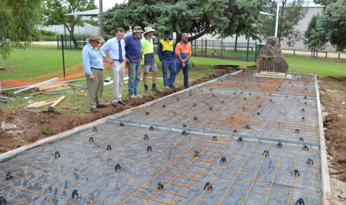 DELUNGRA WAR MEMORIAL UPGRADE ON SCHEDULE WITH $12,770 GRANT