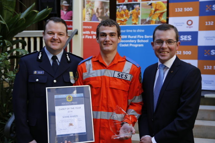 WARIALDA STUDENT KODIE HARDY NAMED NSW SES CADET OF THE YEAR