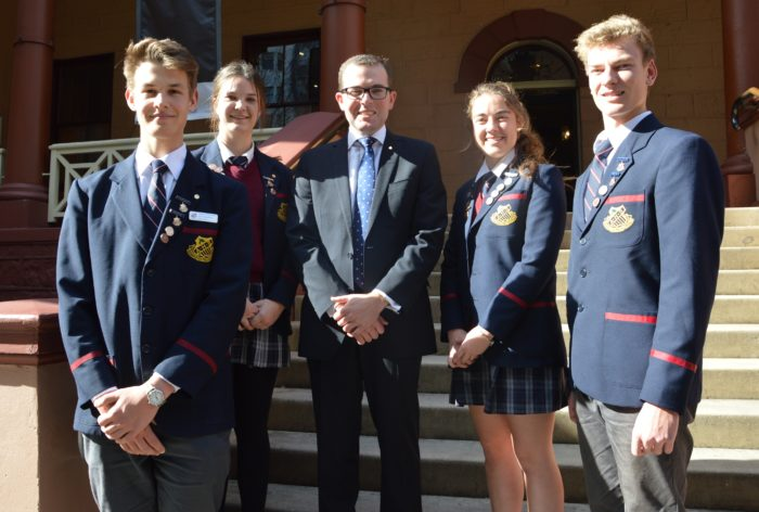 ARMIDALE SCHOOL LEADERS TOUR STATE PARLIAMENT