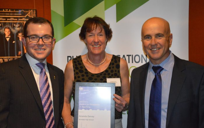 ARMIDALE HIGH SCHOOL HEAD TEACHER RECEIVES STATEWIDE RECOGNITION