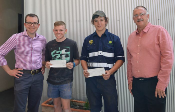 MOREE APPRENTICES RECEIVE $15,000 BERT EVANS SCHOLARSHIPS