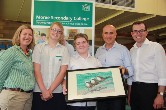 EDUCATION MINISTER GETS BIRD'S-EYE VIEW OF STUDENTS' WORK