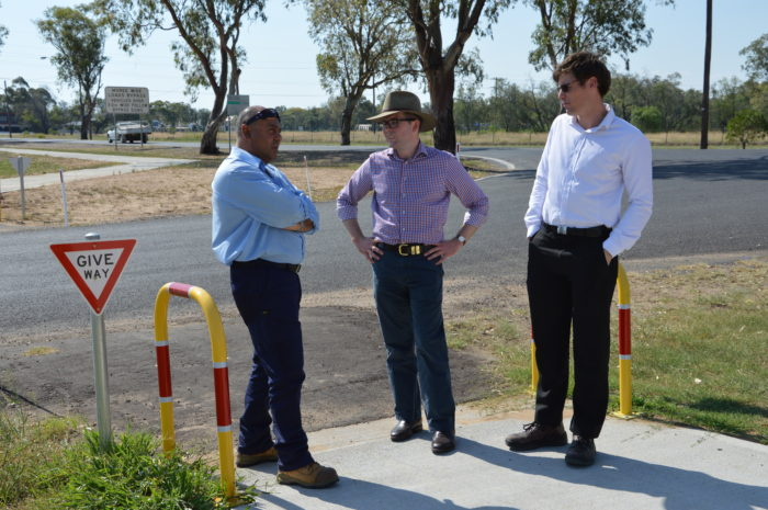 NEW MOREE CYCLEWAY SAFELY LINKS EAST WITH WEST