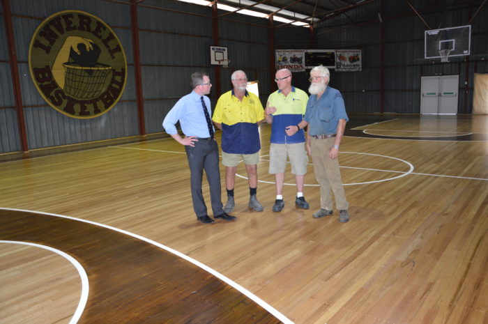 INVERELL BASKETBALL STADIUM FLOOR GETS ITS BOUNCE BACK