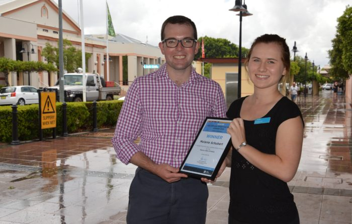 MOREE'S MELANIE SCHUBERT WINS VOLUNTEER OF THE YEAR AWARD