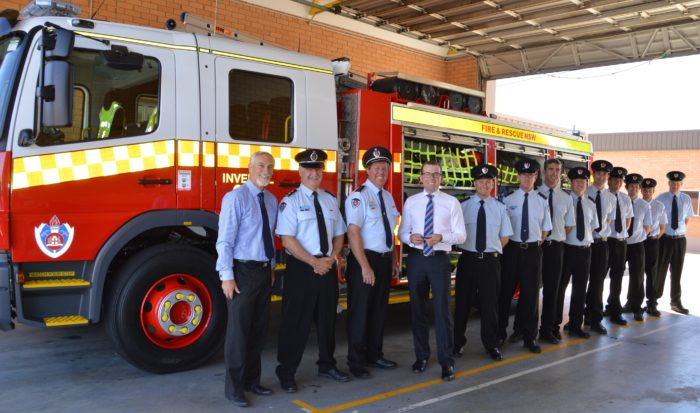 INVERELL FIRE STATION TAKES DELIVERY OF BRAND NEW FIRE TRUCK