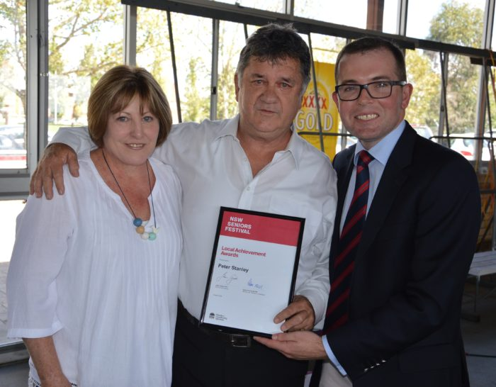 PETER STANLEY RECOGNISED WITH LOCAL ACHIEVEMENT AWARD