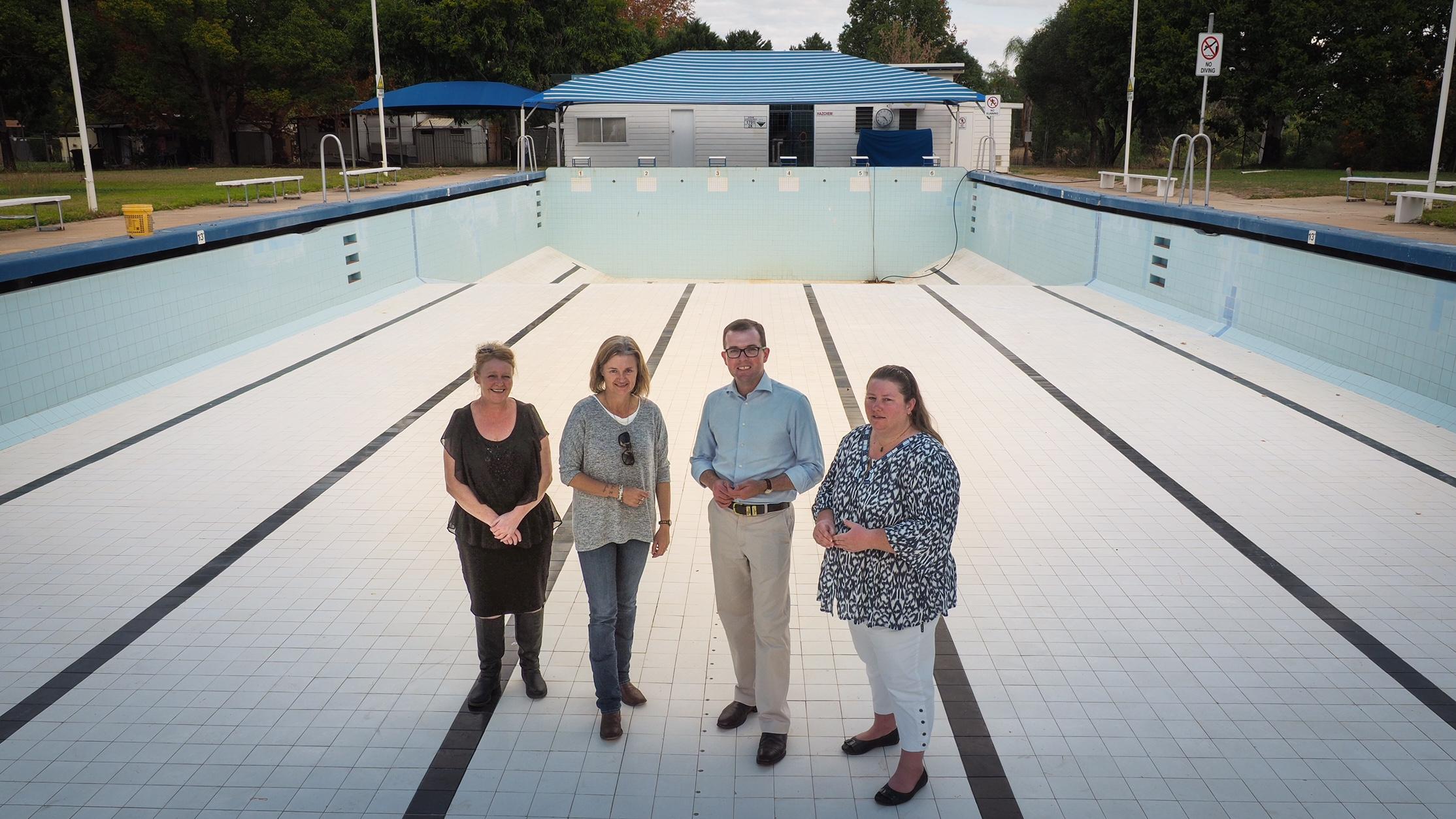 3 000 For New Starting Blocks At Bingara Pool Adam Marshall