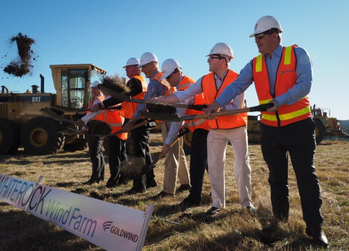 FIRST SOD TURNED ON GLEN INNES WHITE ROCK WINDFARM – LARGEST IN COUNTRY