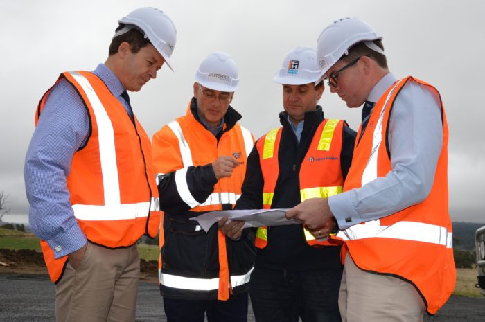 ENVIRONMENT MINISTER INSPECTS WHITE ROCK WIND FARM PROGRESS