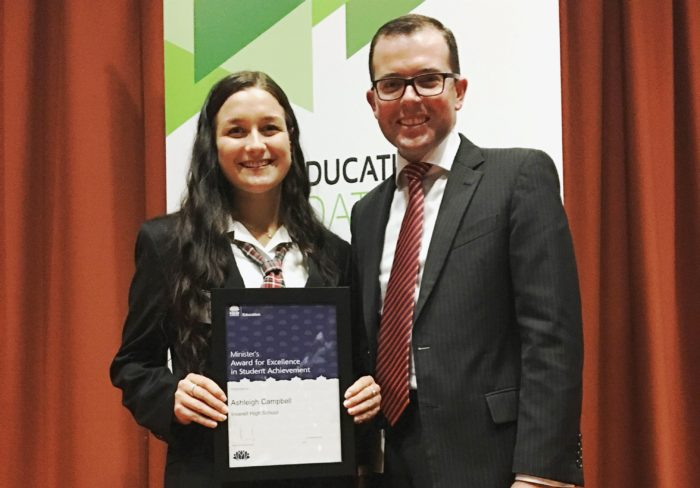 ASHLEIGH CAMPBELL RECEIVES PUBLIC EDUCATION'S HIGHEST HONOUR