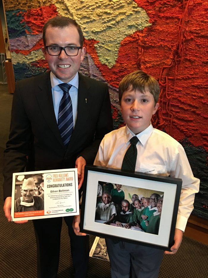 STUDENTS HONOURED WITH FRED HOLLOWS HUMANITY AWARDS