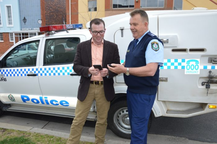 NEW MOBILE DEVICES ROLLED OUT TO COUNTRY COPS ON THE BEAT