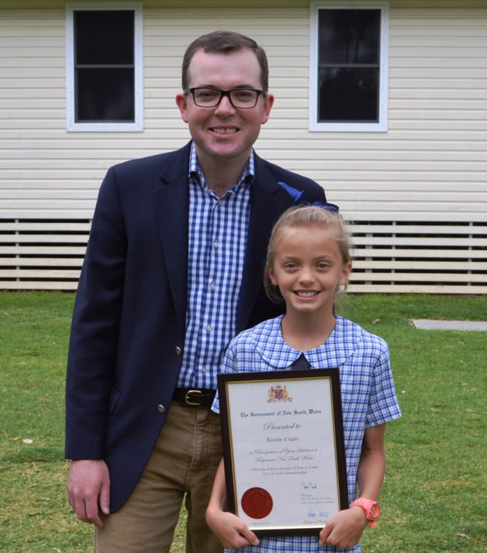 STATE RECOGNITION FOR MOREE SCHOOL STUDENT XANTHE COGAN