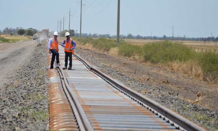 $2 MILLION MOREE AGRICULTURAL RAIL FREIGHT FIX ALMOST COMPLETE