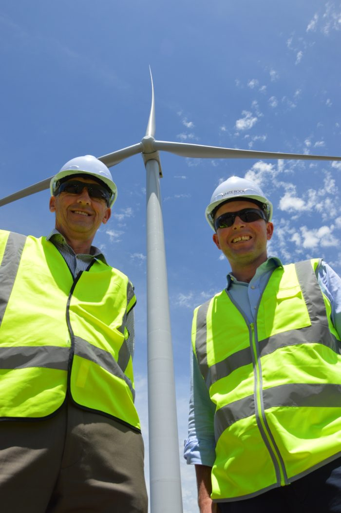 LOCAL MP & MAYOR BLOWN AWAY BY WIND FARM PROGRESS