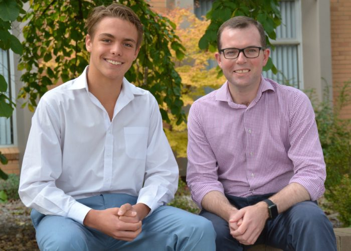 ARMIDALE STUDENT JESSE STREETING PREPARES TO ENTER THE 'BEAR PIT'