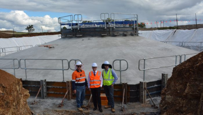 SAPPHIRE WINDFARM TAKES FIRST CONCRETE STEP FORWARD
