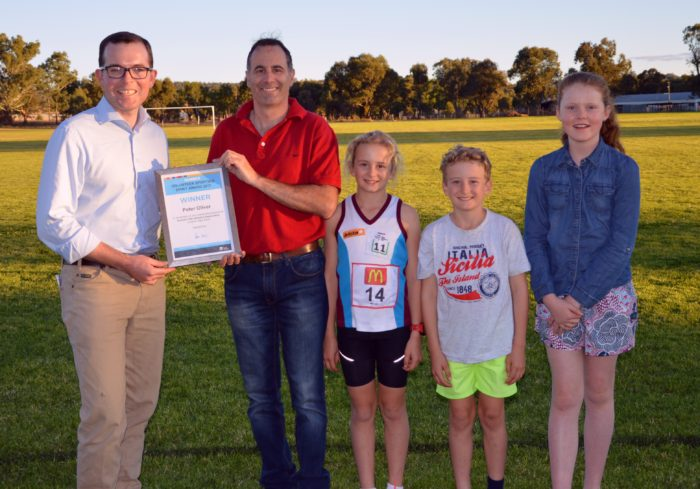 LITTLE ATHLETES, BIG HELPING HAND FROM INVERELL'S PETER OLIVER