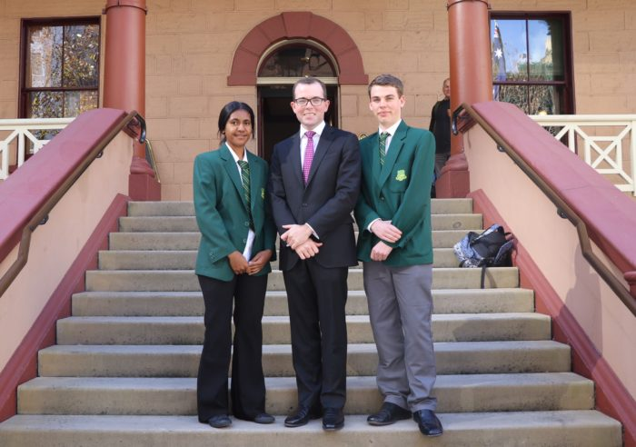 BUNDARRA CENTRAL SCHOOL STUDENT LEADERS TOUR STATE PARLIAMENT