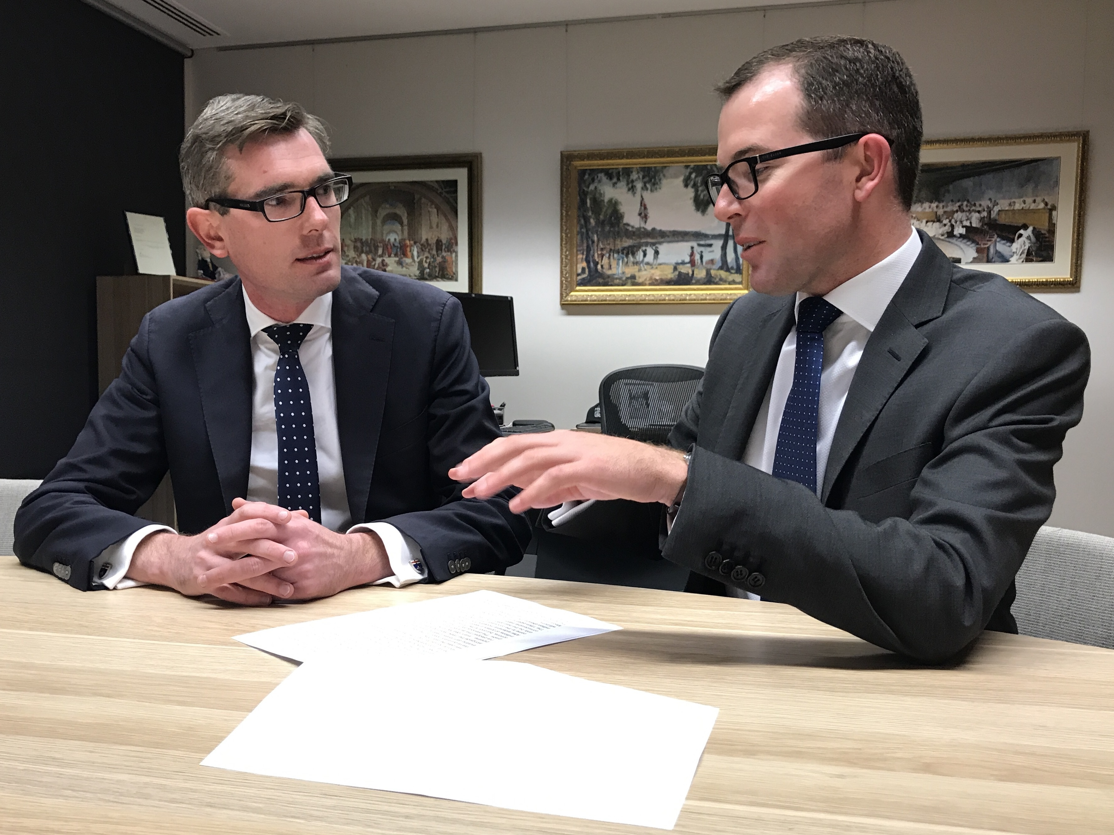 Meeting with Treasurer Perrottet