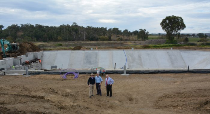 NEW POND POURED AT INVERELL SEWAGE TREATMENT PLANT
