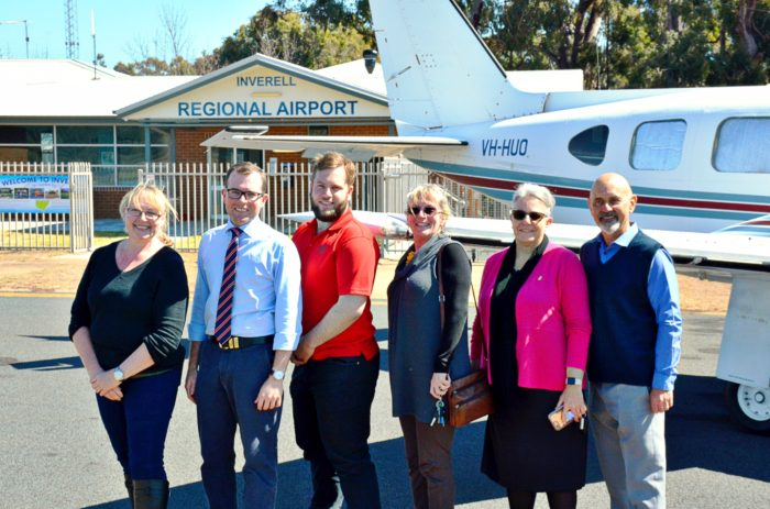 FIRST FLIGHT FROM INVERELL TO BRISBANE UP AND AWAY