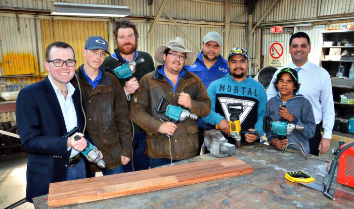 BACKTRACK STUDENTS READY TO POWER ON WITH INDUSTRIAL DRILLS