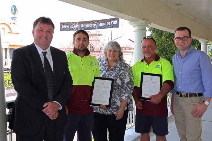 BRAVERY AWARDS FOR TWO MOREE PLAINS SHIRE STAFF AT BOGGABILLA