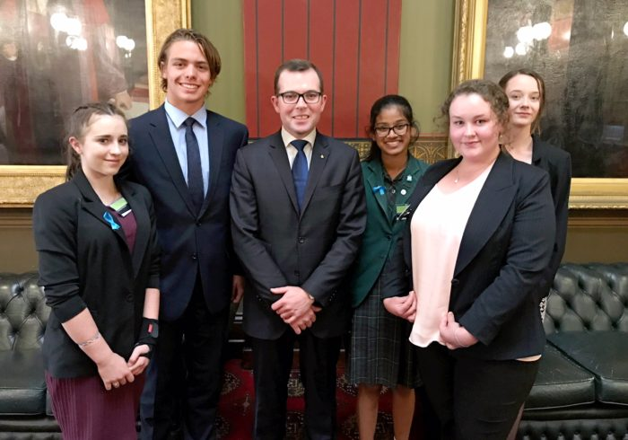 REGION'S YOUTH PARLIAMENTARIANS IMPRESS IN THE NSW 'BEAR PIT'