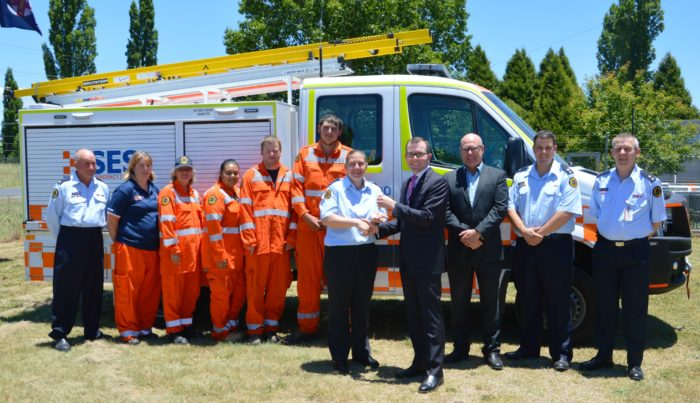 NEW $179,000 VEHICLE TO BOOST GLEN INNES SES EMERGENCY RESPONSE
