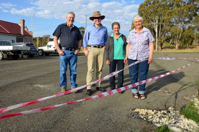 GROWING PAINS EASED AT BEN LOMOND HALL CARPARK WITH $3,380 GRANT
