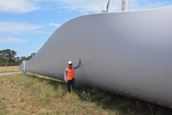 SAPPHIRE WINDFARM CONSTRUCTION PROCEEDS AT GALE FORCE