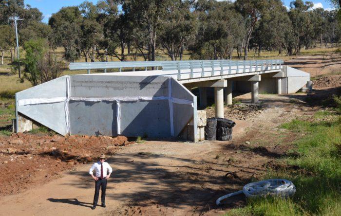 NEW $1 MILLION TENTERDEN ROAD BRIDGE ALMOST COMPLETE