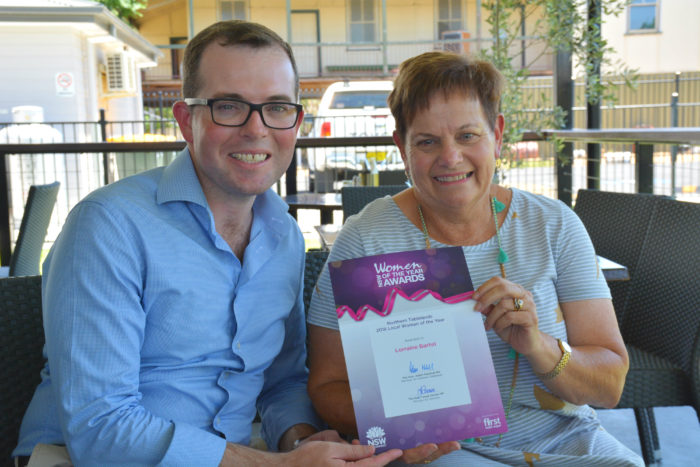 MOREE'S LORRAINE BARTEL NAMED AS OUR WOMAN OF THE YEAR