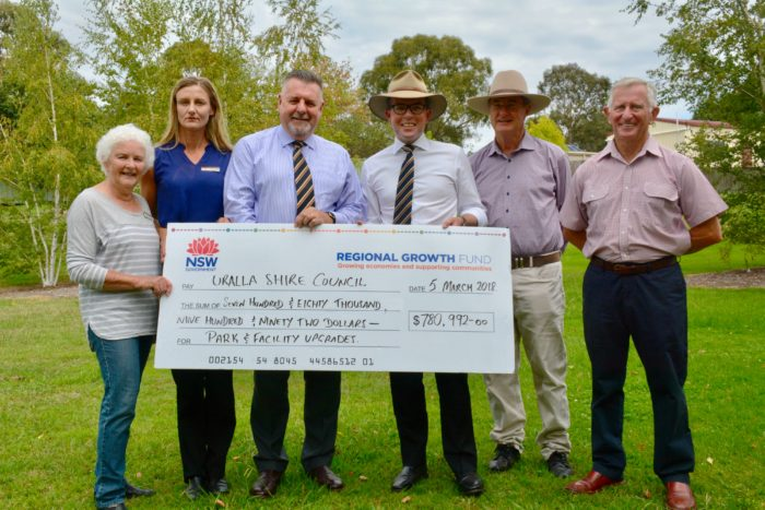 $780,992 CASH SPLASH TO OVERHAUL URALLA SHIRE'S LOCAL PARKS