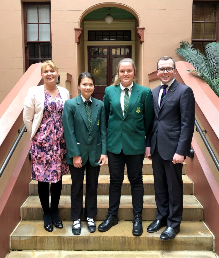 BUNDARRA LEADERS GET A TASTE FOR POLITICS AT STATE PARLIAMENT