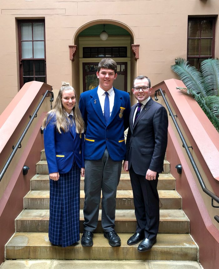 GLEN INNES & EMMAVILLE LEADERS GET A TASTE FOR POLITICS AT PARLIAMENT