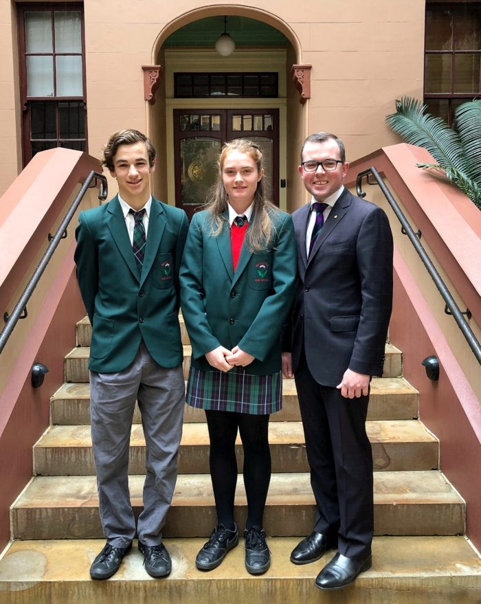 INVERELL LEADERS GET A TASTE FOR POLITICS AT STATE PARLIAMENT