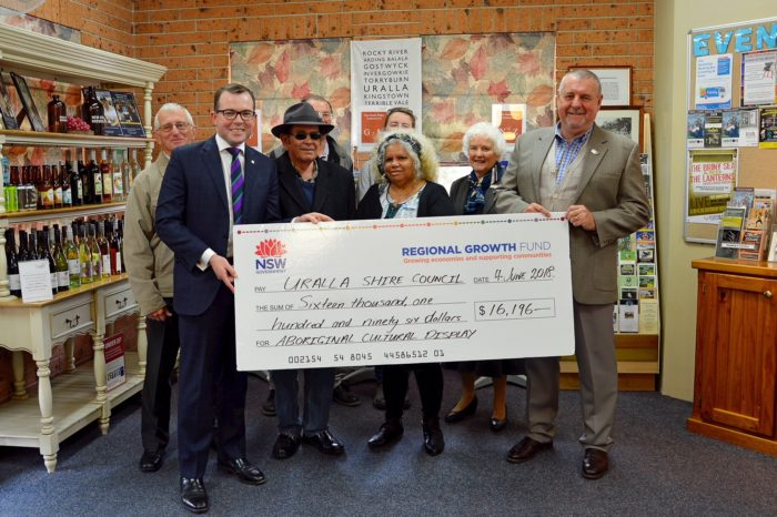 $16,196 FOR URALLA TO RECOGNISE ABORIGINAL CULTURAL HISTORY