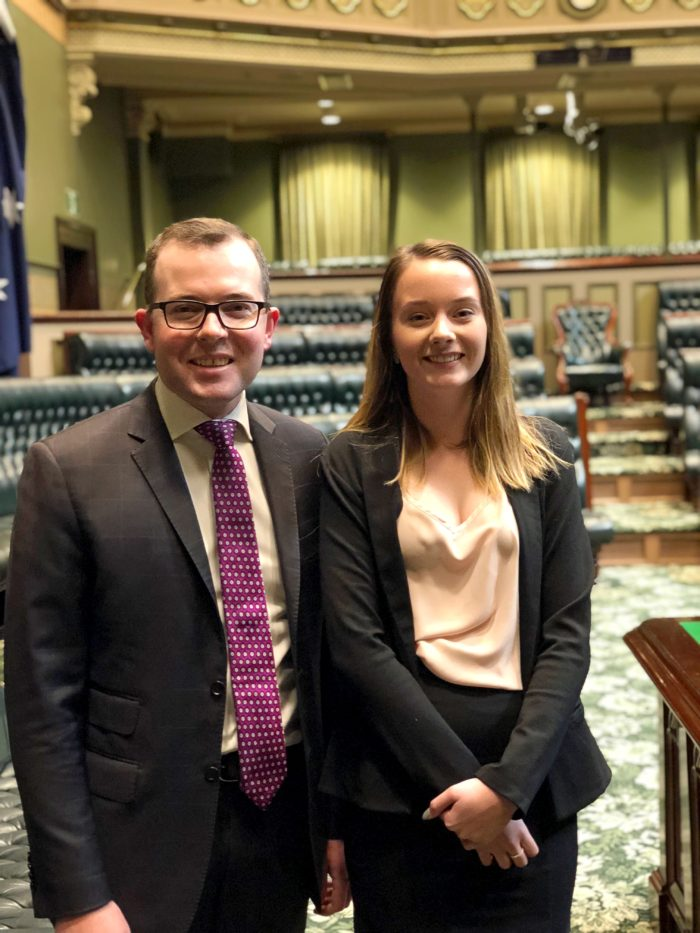 YOUTH MP GEMMA WEGUELIN IMPRESSES IN THE NSW 'BEAR PIT'