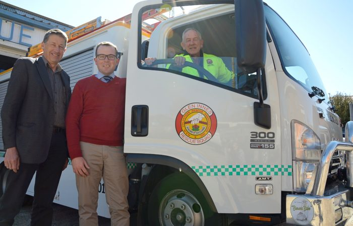 MARSHALL COMES TO THE 'RESCUE' WITH $10,000 FOR GLEN INNES VRA