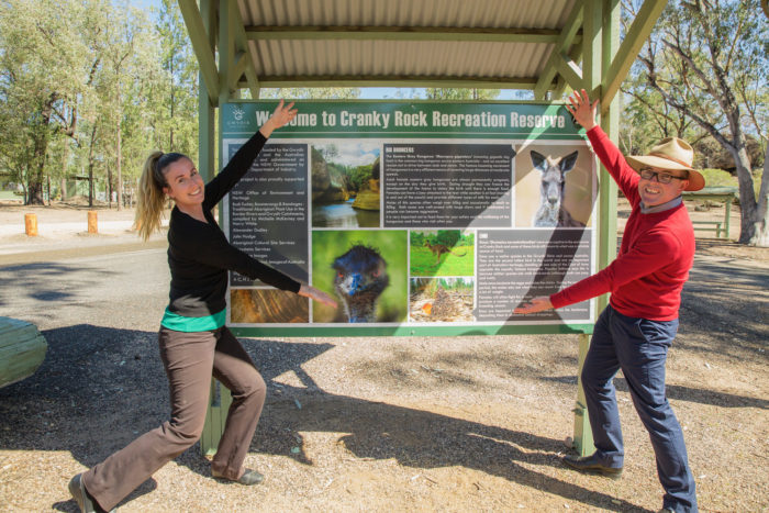CRANKY ROCK GAINS GRAPHIC BRUSH UP FOR DREAMTIME WONDER TOURISTS