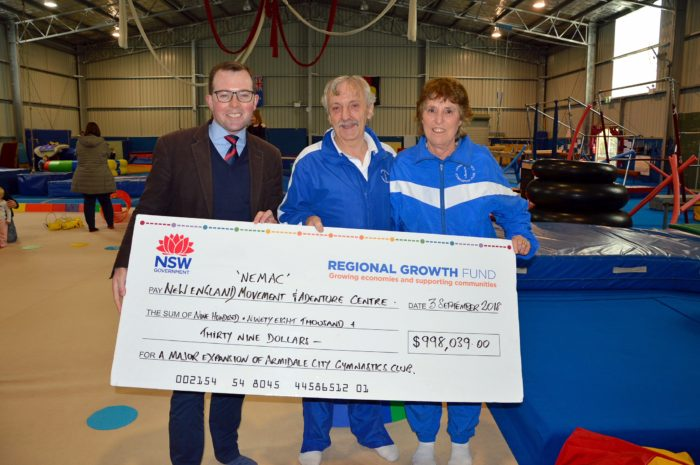 $1 MILLION ARMIDALE GYMNASTICS CLUB EXPANSION BRINGS CHAMPIONSHIPS
