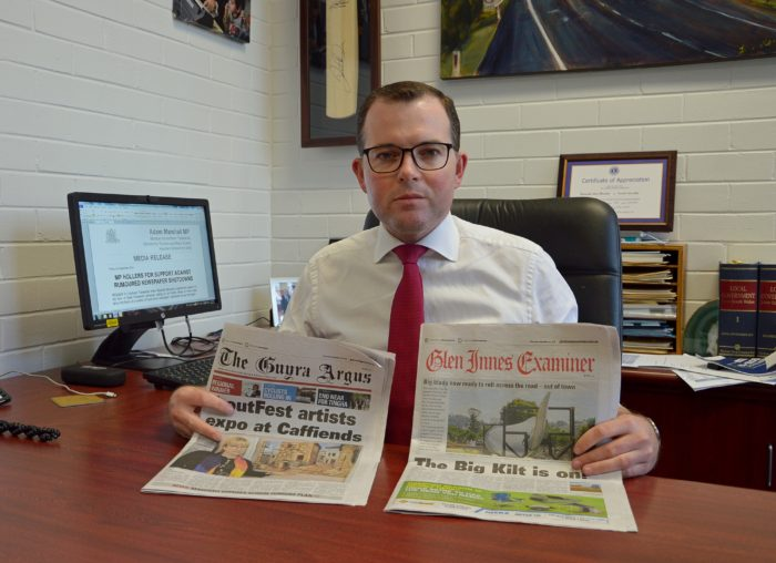 MP HOLLERS FOR SUPPORT AGAINST RUMOURED NEWSPAPER SHUTDOWNS