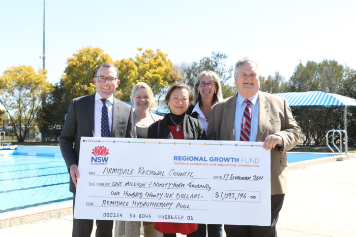 $1.1 MILLION SPLASH OF CASH FOR NEW ARMIDALE HYDROTHERAPY POOL