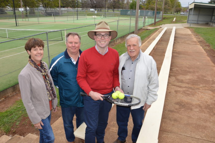 GLEN TENNIS CATCHES A WHACK OF GREEN STUFF FOR COURT UPGRADES