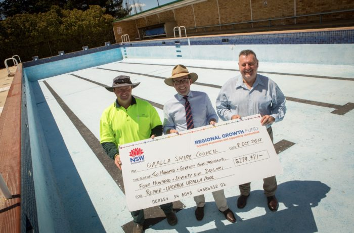 URALLA POOL GETS SPLASH OF CASH TO KEEP IT AFLOAT FOR A LONG FUTURE