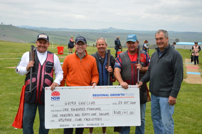 GUYRA GUN CLUB DRAWS A BEAD ON $100,141 GRANT TO UPGRADE FACILITIES