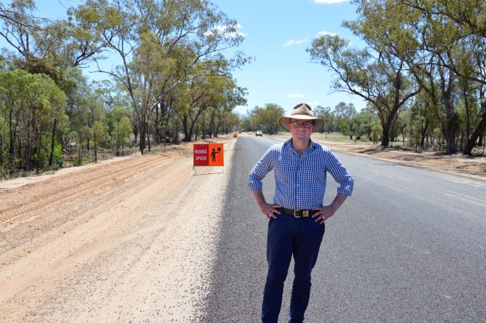 CARRIGAN ROAD UPGRADE KICKING UP THE DUST NORTH WEST OF MOREE